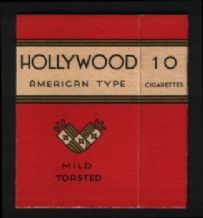 Vintage cigarette packet Hollywood  #799